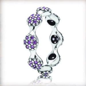 PANDORA Modern Love Pods Purple Ring RETIRED 😊 ❤️